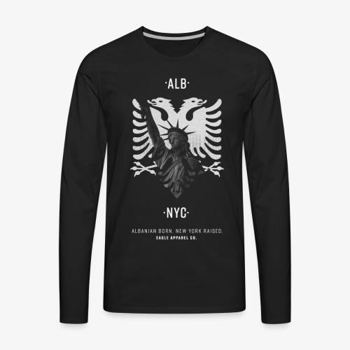 Albanian Born + New (White) - Men's Premium Long Sleeve T-Shirt