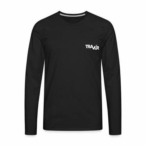 Travlr Logo - Men's Premium Long Sleeve T-Shirt