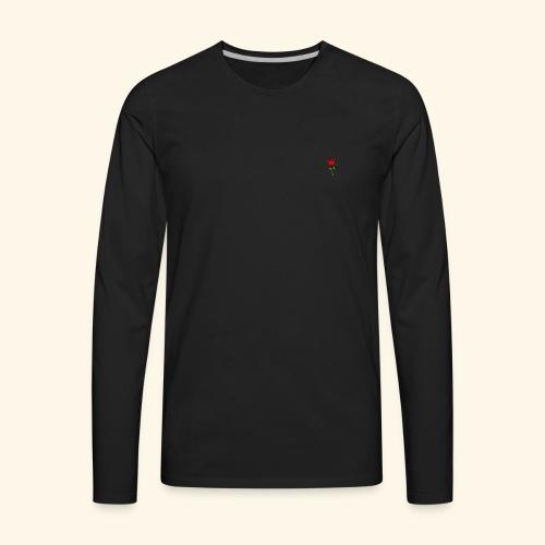 Rose Print - Men's Premium Long Sleeve T-Shirt