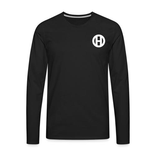 HIGH ORDER CLASSIC WHITE (PLAIN) - Men's Premium Long Sleeve T-Shirt