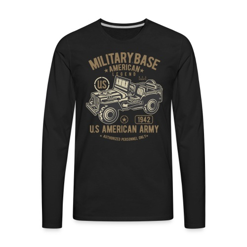 JEEP AMERICAN ARMY - Men's Premium Long Sleeve T-Shirt
