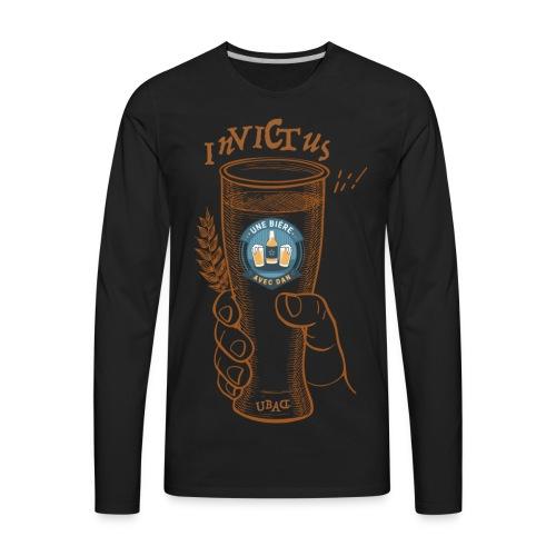 Une bière avec Dan - Invictus - Men's Premium Long Sleeve T-Shirt