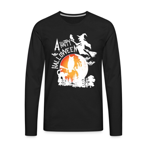 A Happy Halloween - Men's Premium Long Sleeve T-Shirt