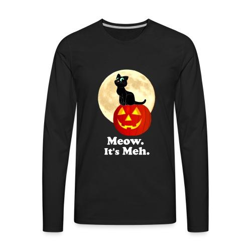 Black Cat Pumpkin Funny Halloween Gifts Ideas - Men's Premium Long Sleeve T-Shirt