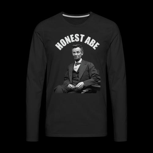 Honest Abe - Men's Premium Long Sleeve T-Shirt