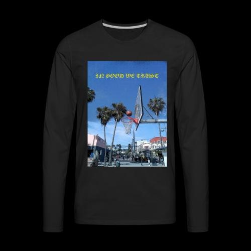 Venice Beach IN GOOD WE TRUST - Men's Premium Long Sleeve T-Shirt