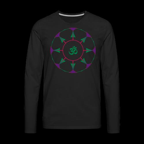 Mandala OM Hindu Symbol - Men's Premium Long Sleeve T-Shirt