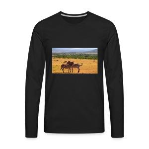 Kenya zebras - Men's Premium Long Sleeve T-Shirt