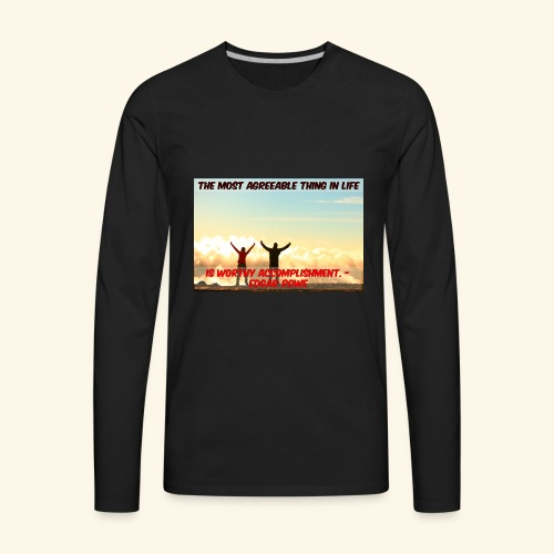 Worthy Accomplishment - Men's Premium Long Sleeve T-Shirt
