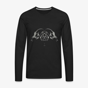 goat skull - Men's Premium Long Sleeve T-Shirt