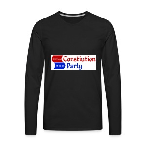 Constitution party logo - Men's Premium Long Sleeve T-Shirt