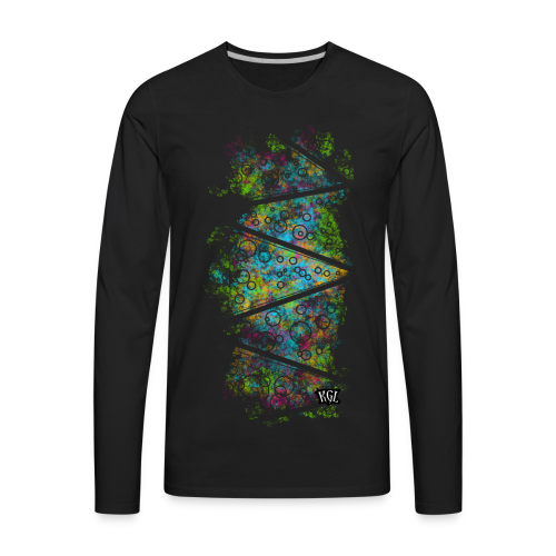 Colorful lines and circles - Men's Premium Long Sleeve T-Shirt