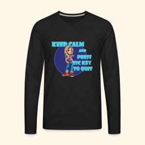 Esc Key - Men's Premium Long Sleeve T-Shirt