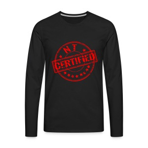 Certified Stamp Design - Men's Premium Long Sleeve T-Shirt