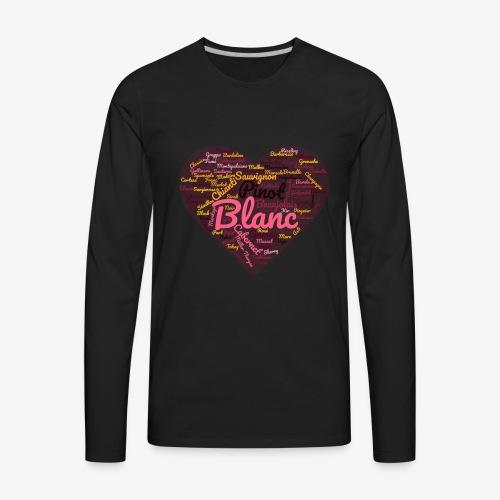 Wine Cloud for Wine Lovers - Men's Premium Long Sleeve T-Shirt