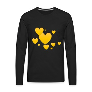Yellow hearts - Men's Premium Long Sleeve T-Shirt