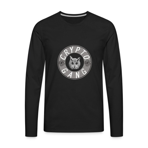 cryptogangblackwhite - Men's Premium Long Sleeve T-Shirt