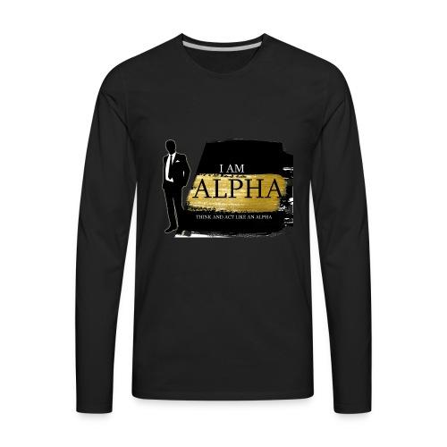Alpha shirt - Men's Premium Long Sleeve T-Shirt