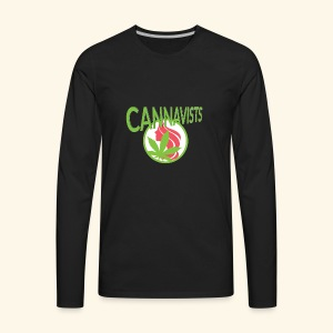 CANNAVIST logo - Men's Premium Long Sleeve T-Shirt