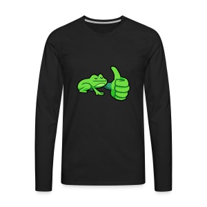 Ribby the Cool Frog - Men's Premium Long Sleeve T-Shirt