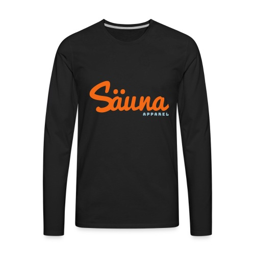 Säuna Apparel logo - Men's Premium Long Sleeve T-Shirt