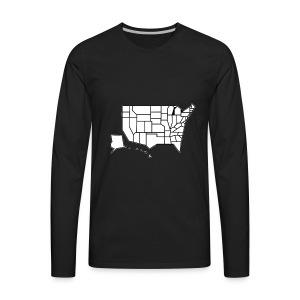 Straight Map - Men's Premium Long Sleeve T-Shirt