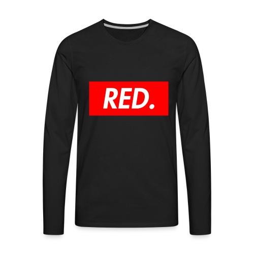 Red. - Men's Premium Long Sleeve T-Shirt