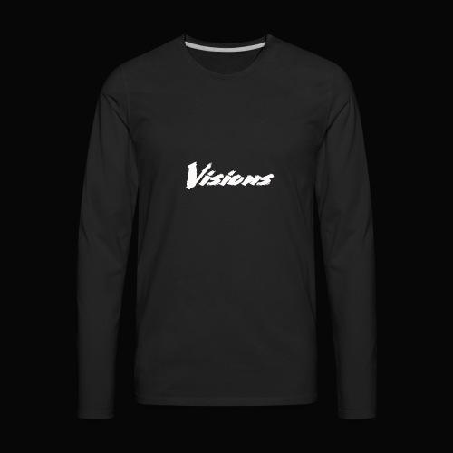 Visions white on black tees and hoodies - Men's Premium Long Sleeve T-Shirt