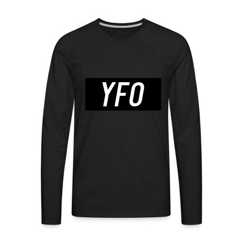 YFO Logo Design - Men's Premium Long Sleeve T-Shirt