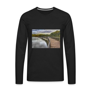 Rainy Day in Rochester - Men's Premium Long Sleeve T-Shirt