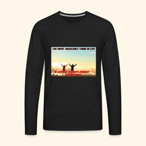 Worthy Accomplishment - Men's Premium Long Sleeve T-Shirt