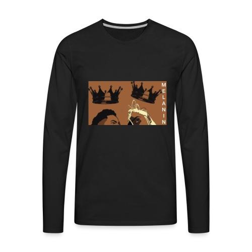 MELANIN ROYALTY - Men's Premium Long Sleeve T-Shirt