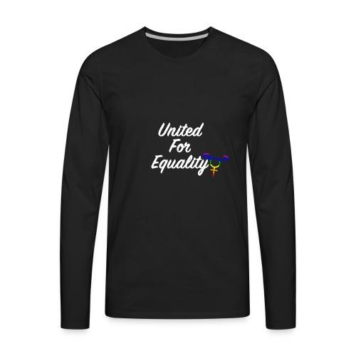 White United For Equality Logo - Men's Premium Long Sleeve T-Shirt