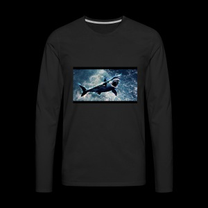 awesome sharks - Men's Premium Long Sleeve T-Shirt
