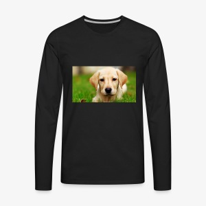 cute puppy - Men's Premium Long Sleeve T-Shirt