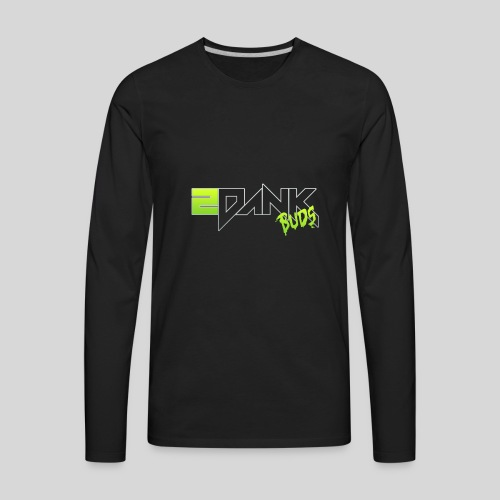 2 Dank Buds Logo - Men's Premium Long Sleeve T-Shirt
