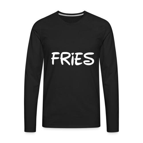 fries with heart - Men's Premium Long Sleeve T-Shirt