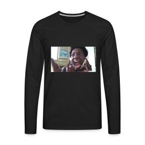 Screaming Face - Men's Premium Long Sleeve T-Shirt