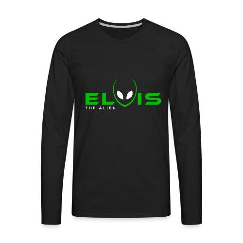 Elvis the Alien (black-logo) - Men's Premium Long Sleeve T-Shirt