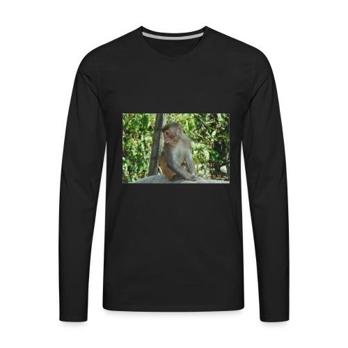 the monkey picture - Men's Premium Long Sleeve T-Shirt