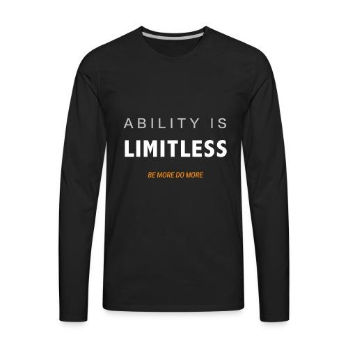 Be more do more - Men's Premium Long Sleeve T-Shirt