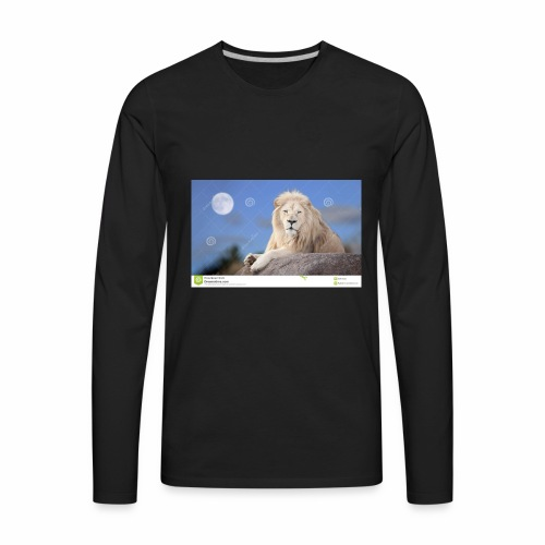 white lion moon light 62073026 - Men's Premium Long Sleeve T-Shirt