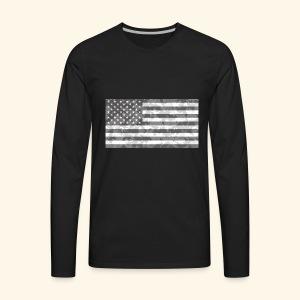 Digi-Camo American Flag - Men's Premium Long Sleeve T-Shirt