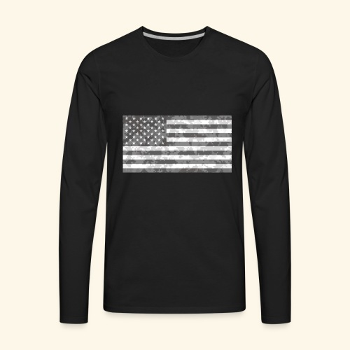Digi-Camo American Flag - Men's Premium Long Sleeve T-Shirt