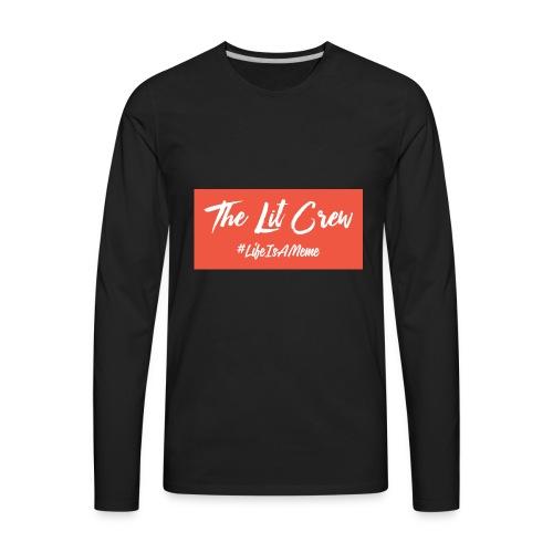 white logo color background - Men's Premium Long Sleeve T-Shirt