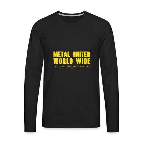 Metal United World Wide (yellow) - Men's Premium Long Sleeve T-Shirt