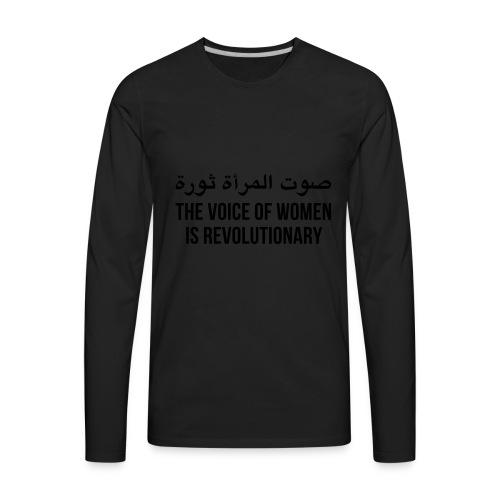 The Voice of Women - Men's Premium Long Sleeve T-Shirt
