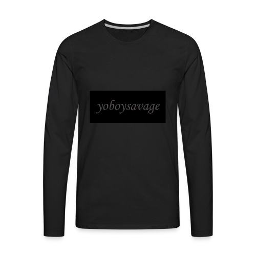 yoboysavagelogo - Men's Premium Long Sleeve T-Shirt