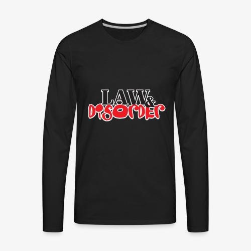 Law DISORDER Logo - Men's Premium Long Sleeve T-Shirt