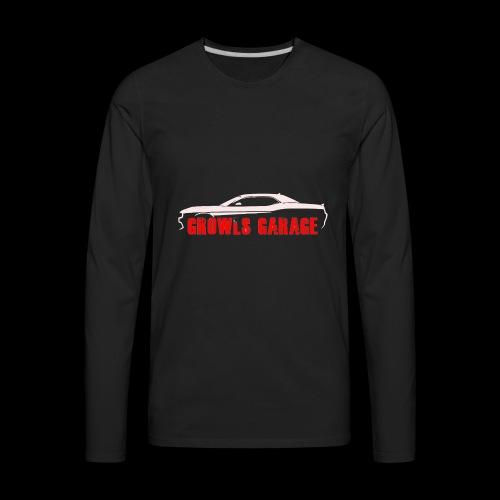 Growls WHITE - Men's Premium Long Sleeve T-Shirt